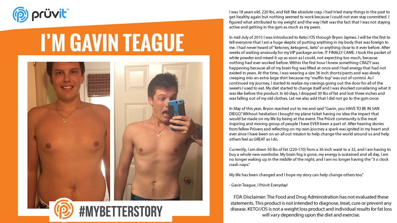 Brain Fog - Energy - Appetite Supression - No Gym - Fat Loss - Business - Gavin Teague