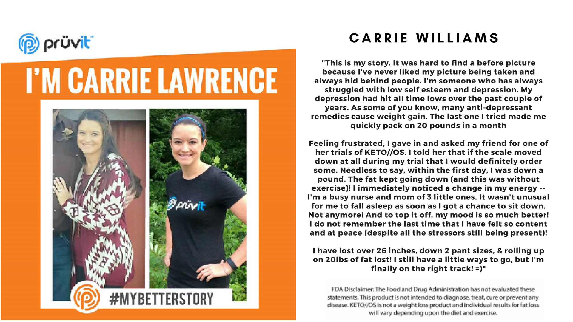 Depression - Fat Loss - Carrie Williams