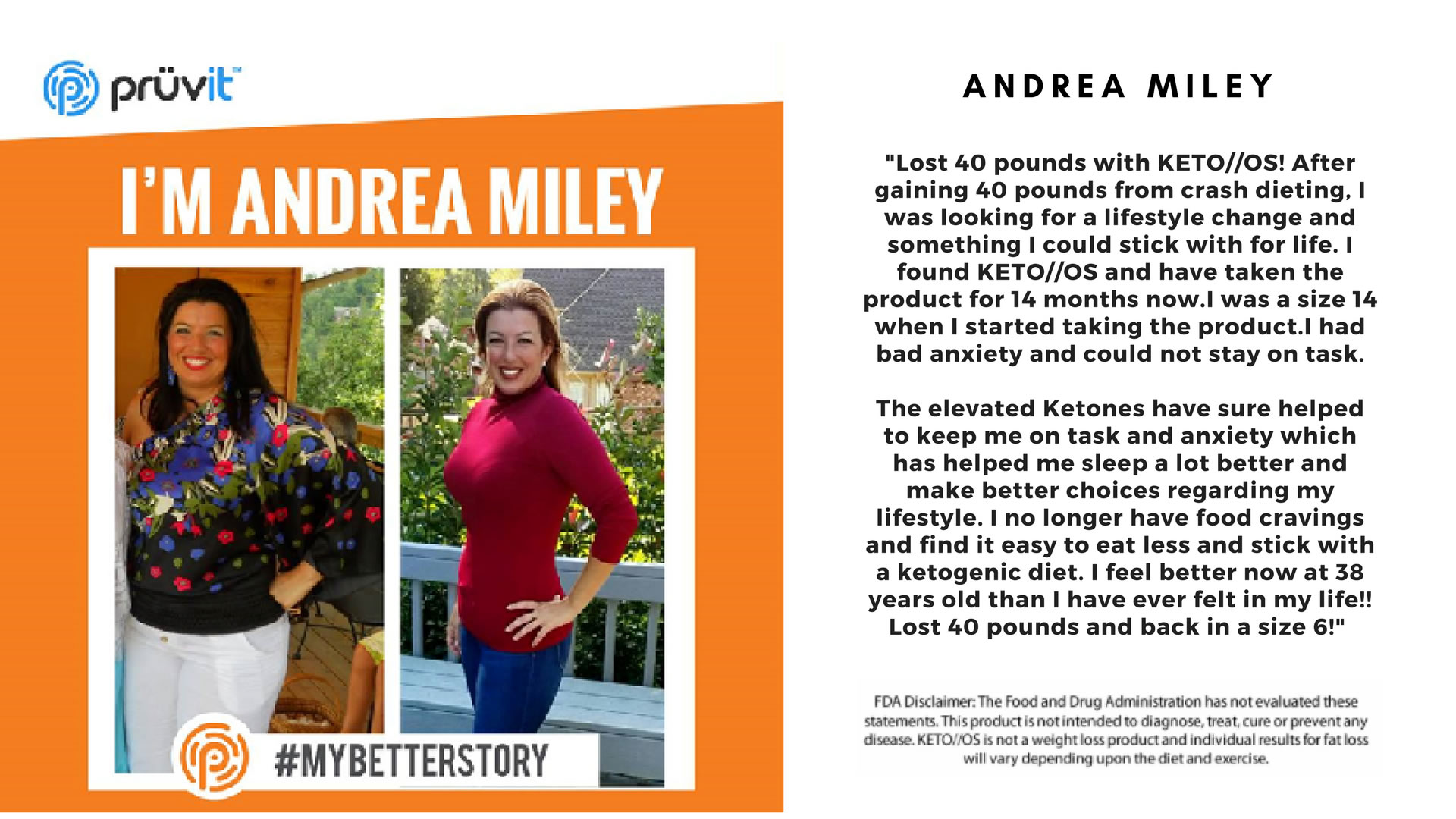 Fat Loss - Anxiety - Appetite Supression - Andrea Miley
